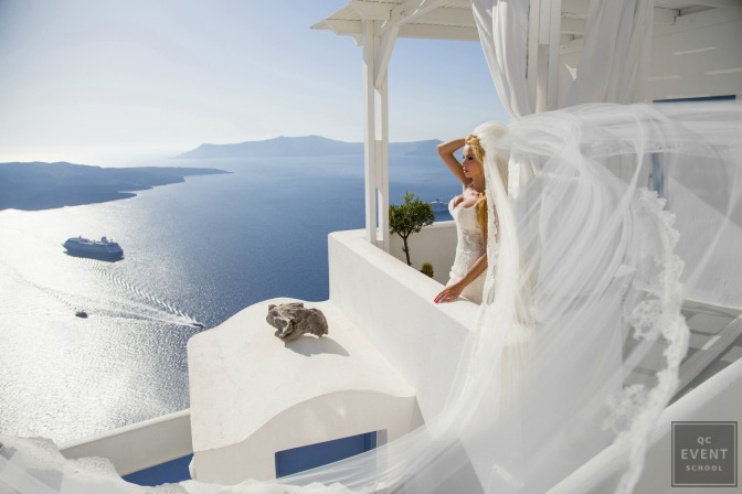 bride at wedding in greece