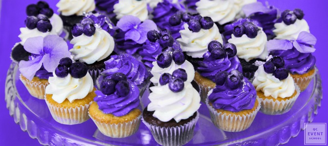 ultra violet cupcake decor for wedding season 2018