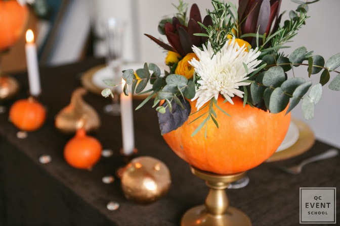 fall and Halloween party decor
