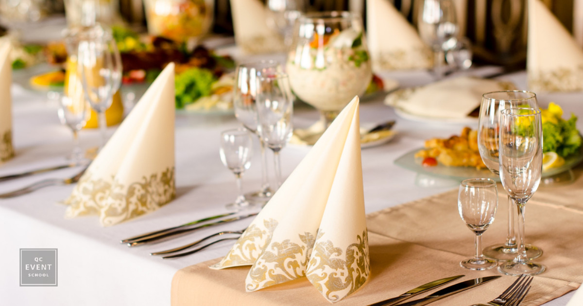 tablescape event decor for event planner course budget consideration
