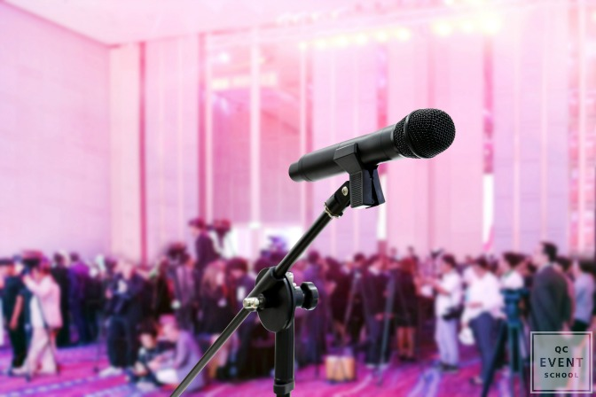 larger corporate events and conferences with media presence