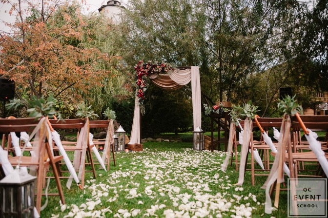outdoor venue during the day uses nature to decorate