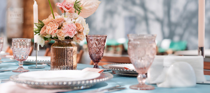 tablescape by an event planner and wedding planner
