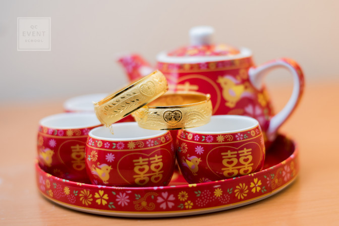 chinese wedding ceremony tea with rings