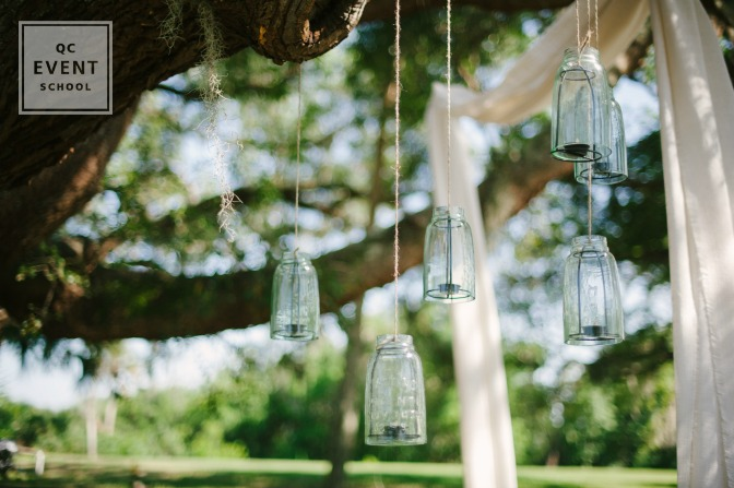hanging candle wedding decor