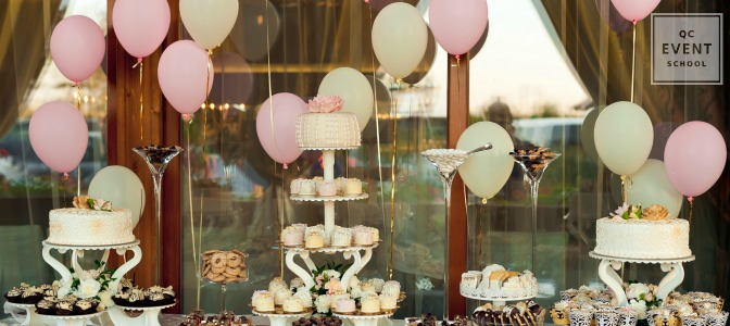 birthday party cake table