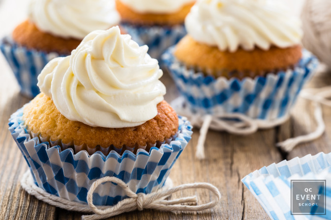 buttercream cupcakes are bad choices as food at a wedding before the cake reveal