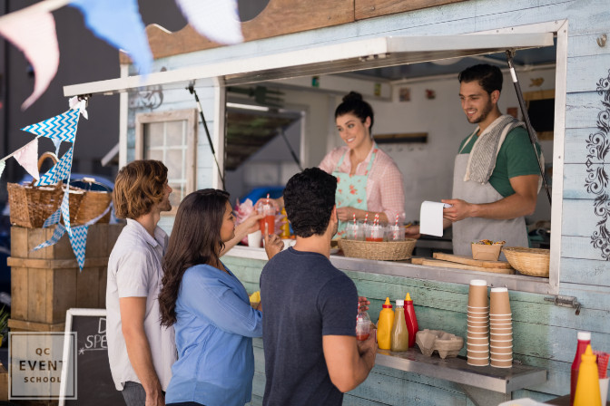 Consult with street food vendors for your next professionally planned event