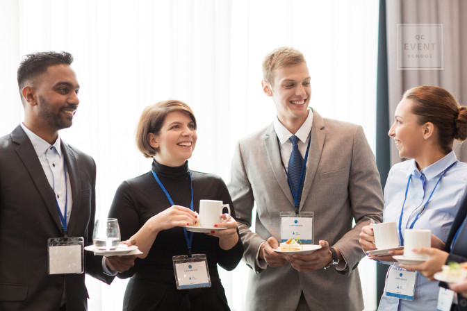 professional networking at conferences for event professionals