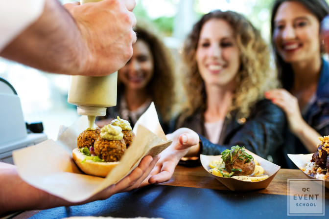 Why are food trucks becoming more popular in the events industry