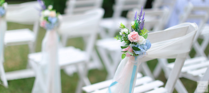 wedding ceremony chair setup - qc event school graduate