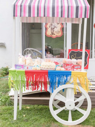 Custom made candy cart for rental as part of Today and Forever Events' services