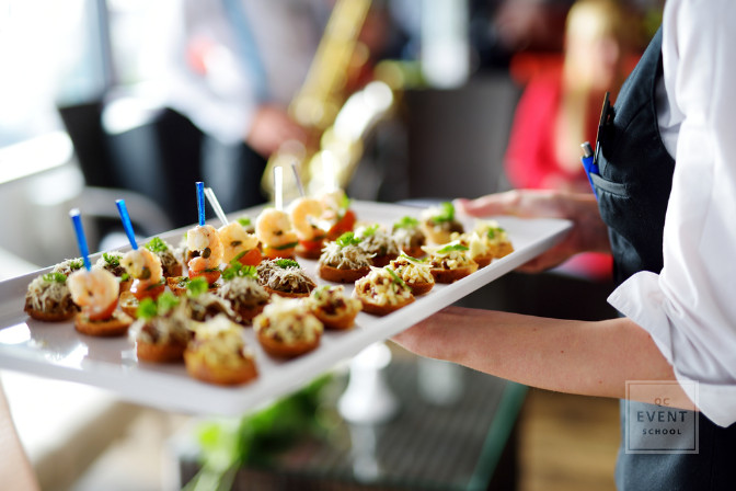 butlered hors d'oeuvres catering service for upscale event