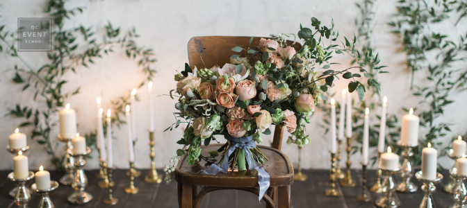 bouquet on a chair wedding planning career resolutions