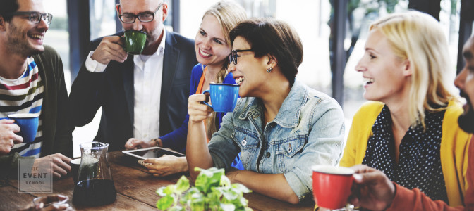 event planners networking at informal event