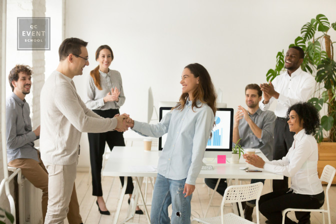casual workplace start up with good employee and employer relationship