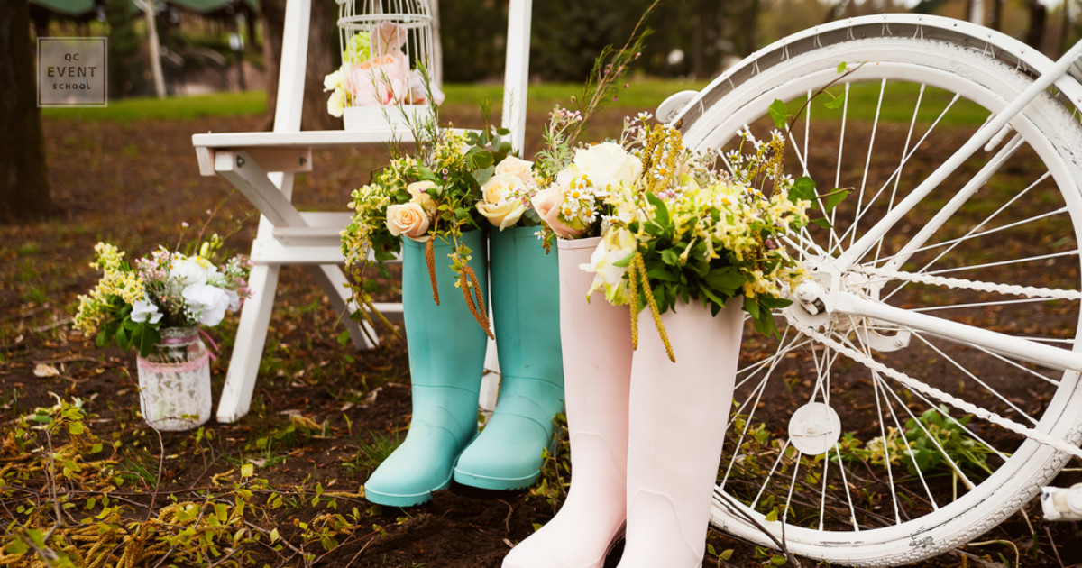 rustic wedding decor - how to become a wedding planner in a small town