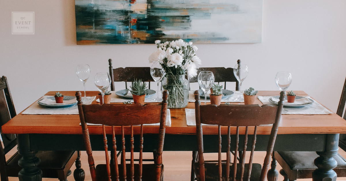 qc event school home staging dining room nicole curtis event decor business owner
