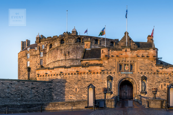 Edinburgh castle in the heart of scotland is popular wedding venue event planning job