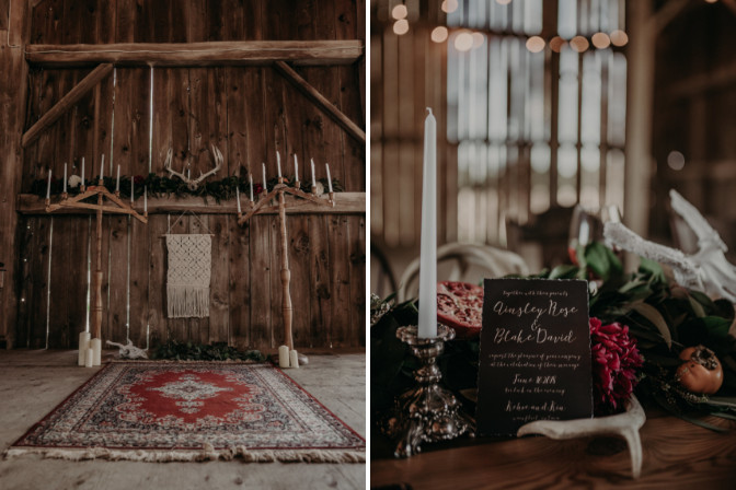 Katie Marie Photography of styled shoot decorated by Willow Decor Co.