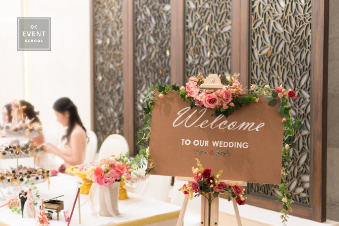 wedding venue welcome sign - event decor