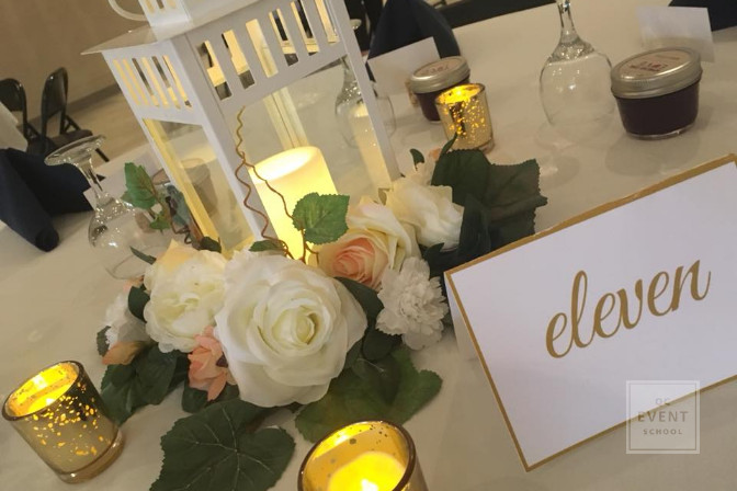 wedding planning table at event planned by ImagineEventsSK