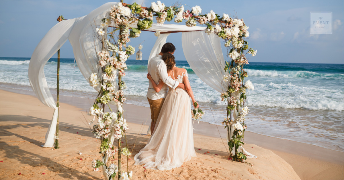 destination wedding planning for beach side wedding in paradise