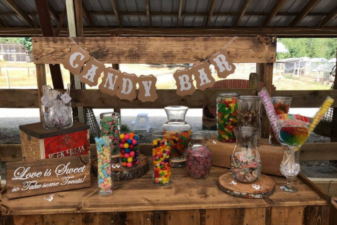 candy bar event decor - Scarlett Sage Events