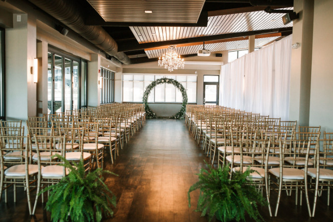 Jenna Parcher Willa and Rose Event and Wedding Planning wedding reception venue setup with chairs