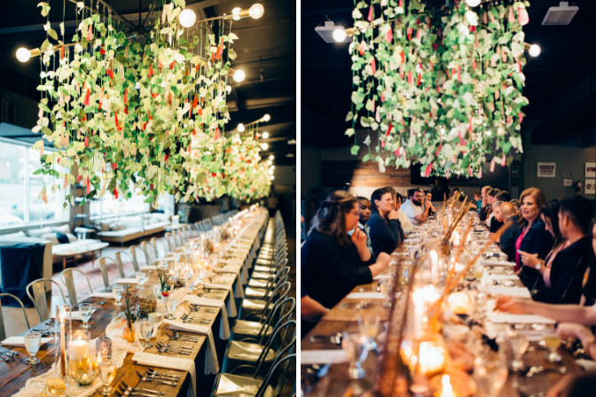 Jenna Parcher Willa and Rose Event and Wedding Planning event setup before and after with guests