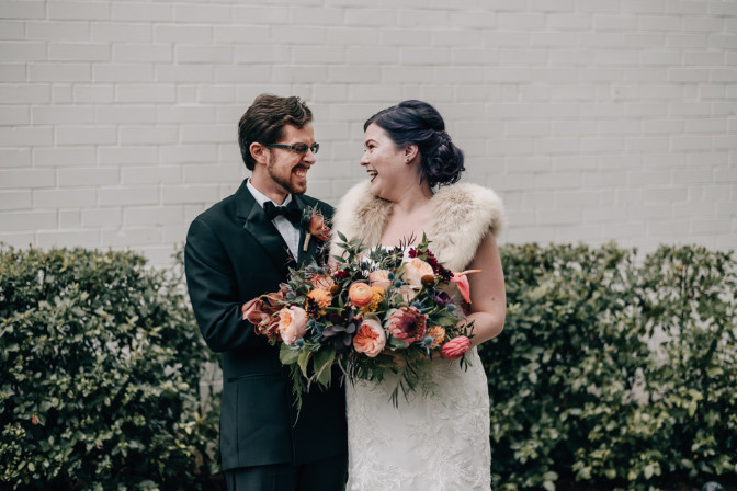 loving couple getting married Jenna Pelcher Willa and Rose Event and Wedding Planning