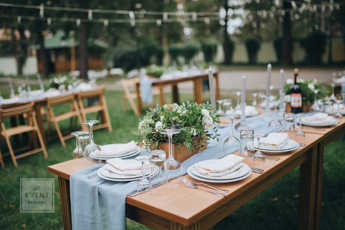 event decor tablescape for a wedding