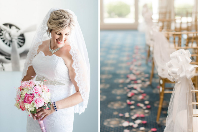 bridal client and wedding aisle - wedding planning by Katherine Snow