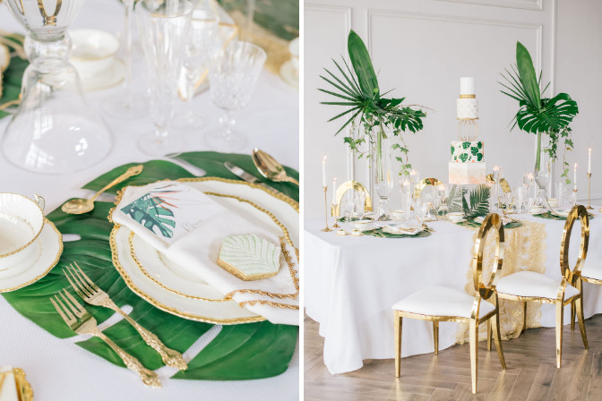 Tropical Minimalism styled shoot featuring event decor specialist Roselle and Co - camasha isaacs