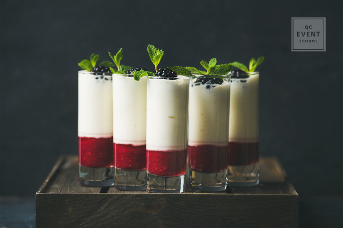 shooters appetizers for a formal event planned by a luxury event planner
