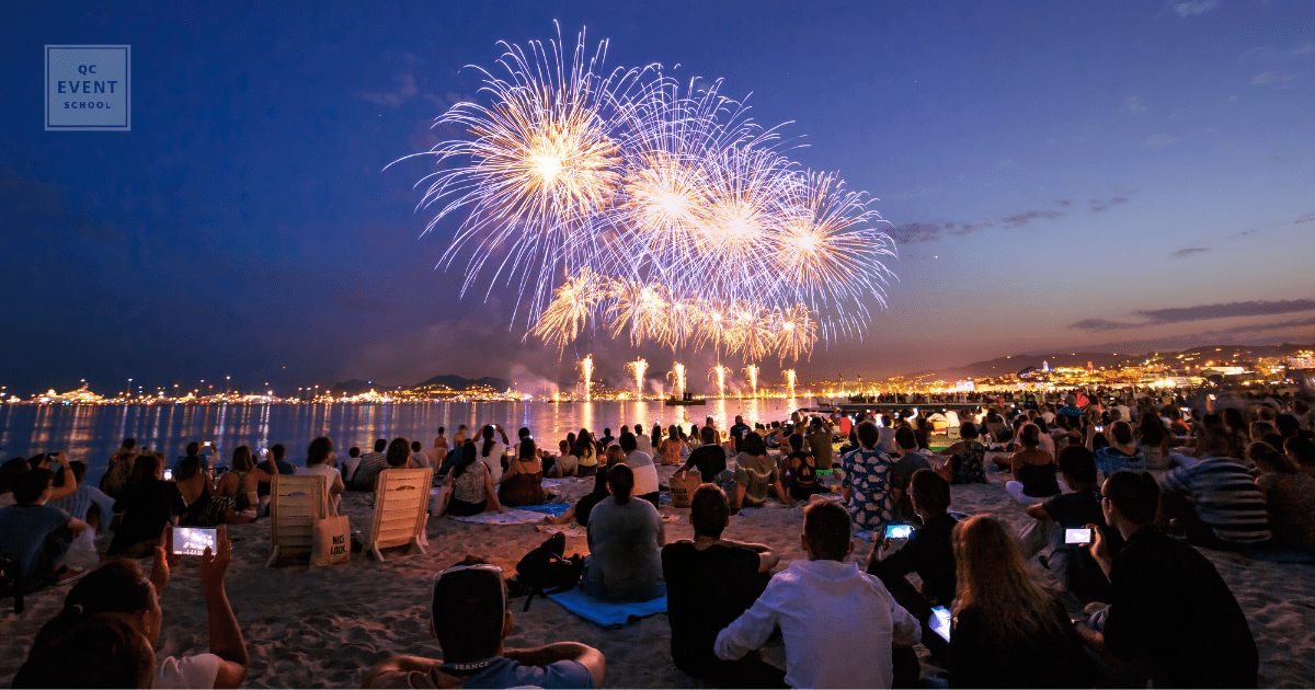 beachside fireworks and pyrotechnics promotional event planning