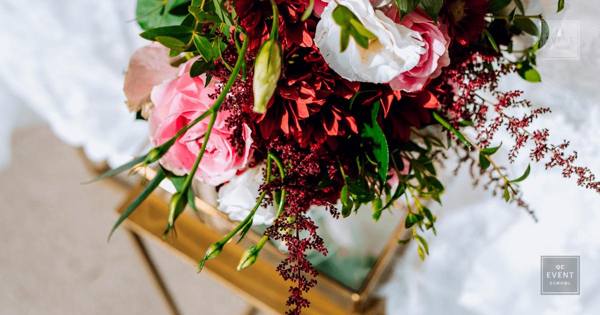 QC event school graduate Zoe thouki of Vitavenir cyprus destination wedding planning company floral design shoot