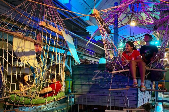 pirate ship art installation at IngenuityFest Cleveland