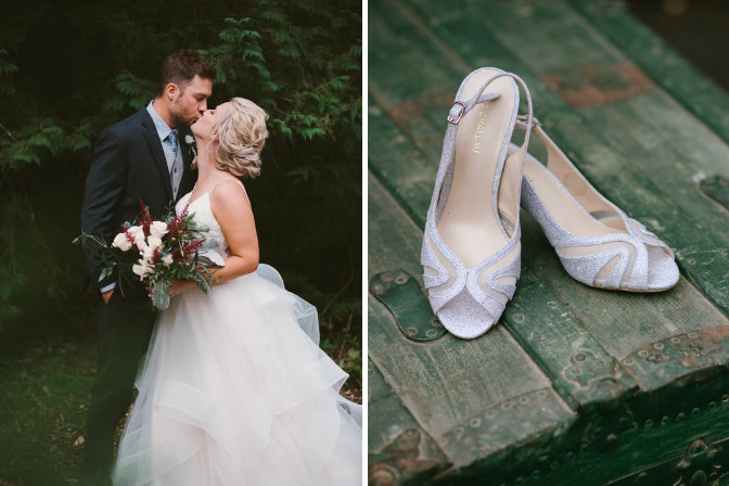 bride groom and wedding shoes portfolio photos for Wallflower Events and Designs
