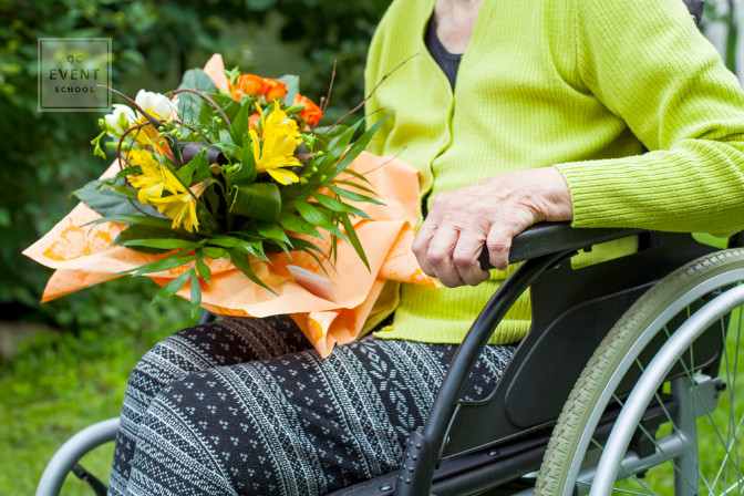 donating bouquets of flowers from wedding to seniors homes
