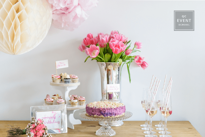 birthday party table decor