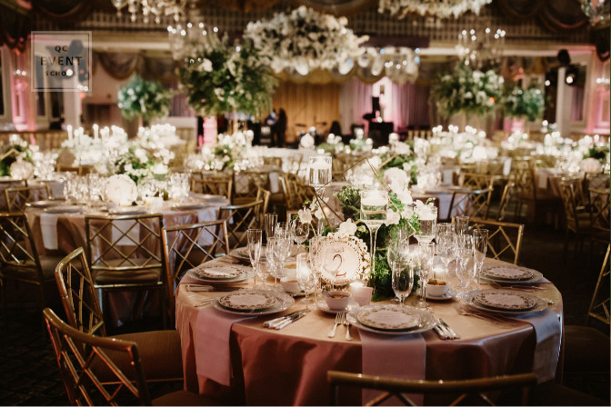 fancy event beautiful table and floral decor