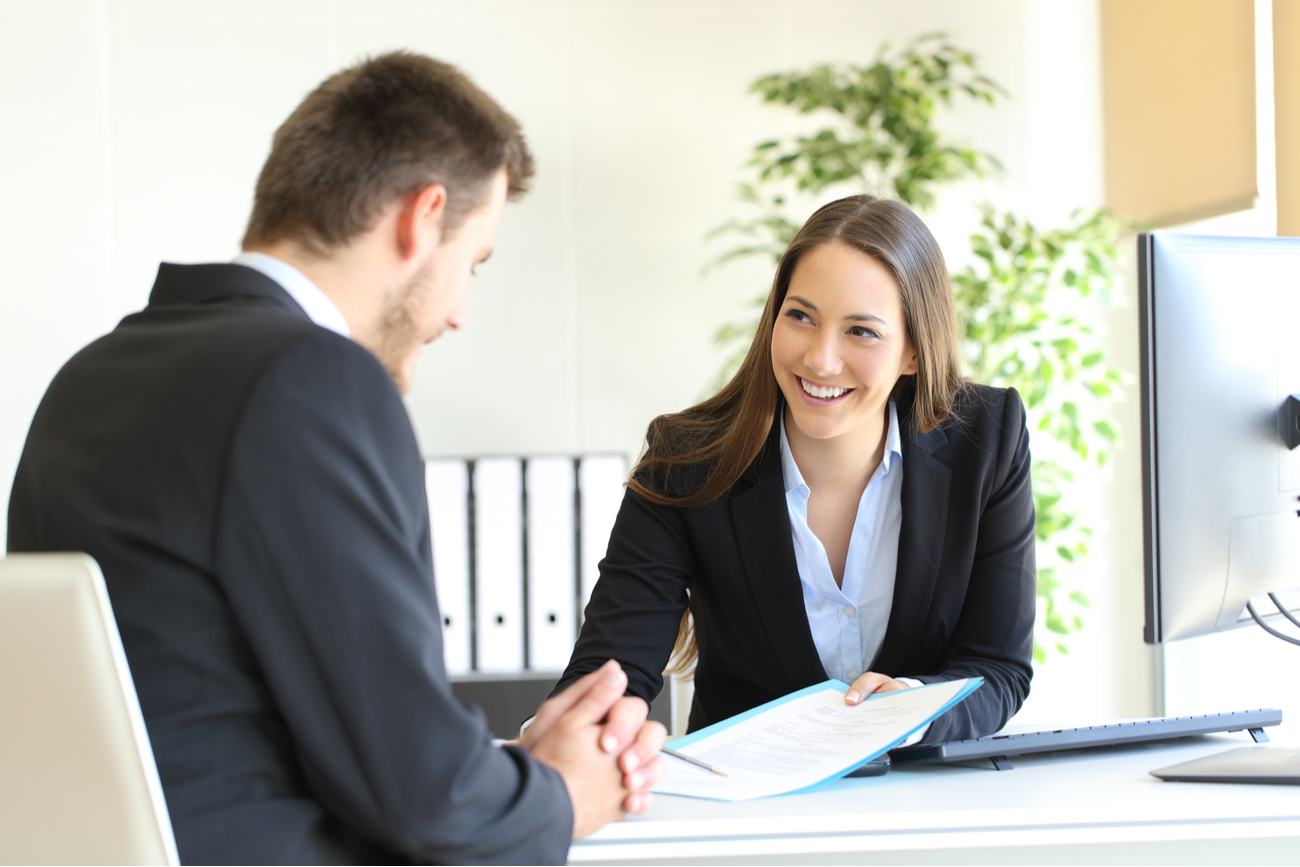 female corporate planner winning over client