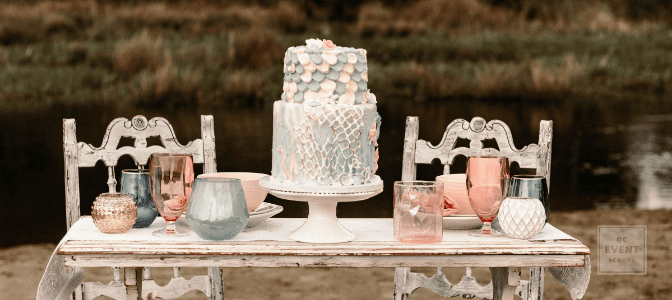 Emili Kopiec - Wedding cake and setup outdoor photo shoot