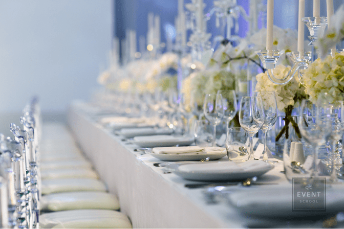 beautiful table and table decor