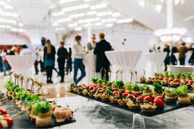 food catering at business event