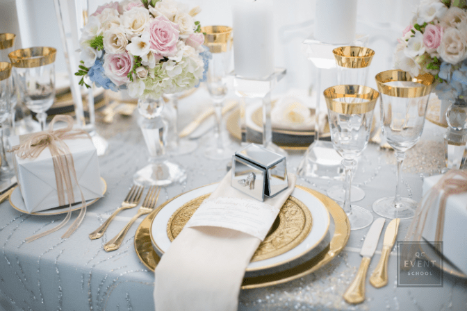 luxury wedding table setup