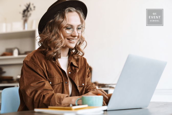 woman increasing her event planner salary by writing for blog publication