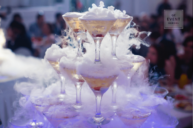 drink arrangement at corporate event