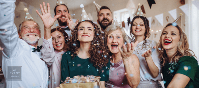 how to become a party planner - family celebrating birthday